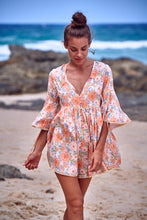 Tatum Playsuit Coral Fields