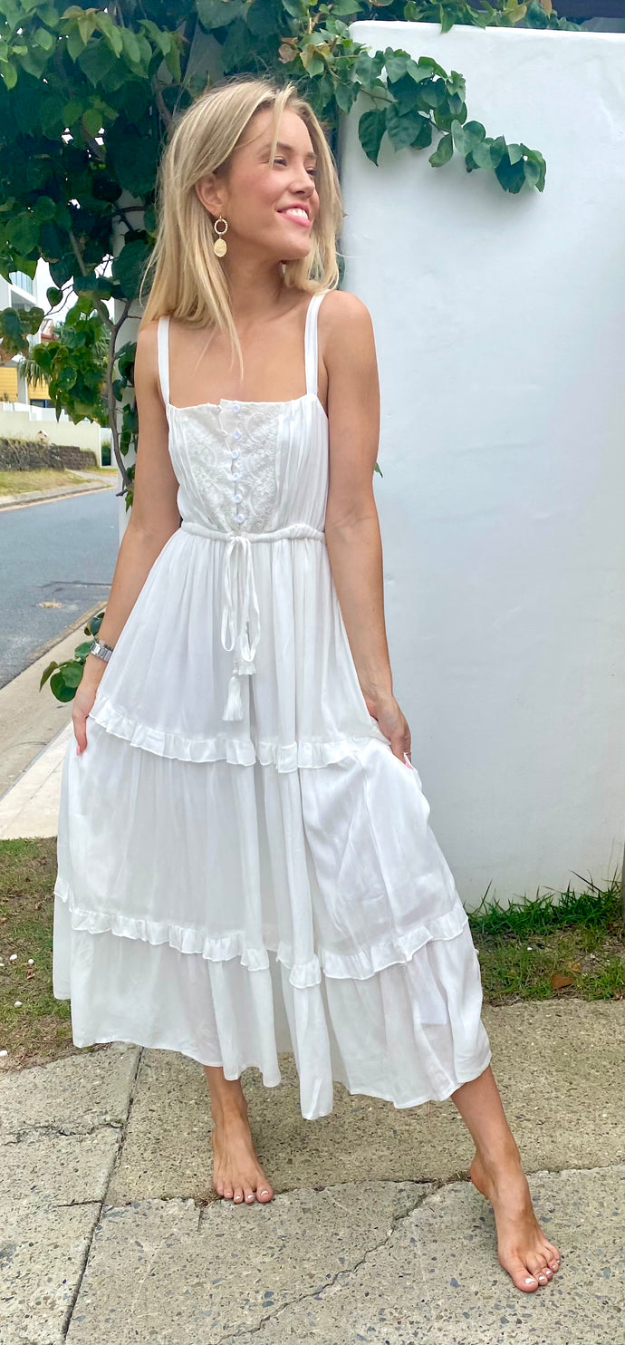 The Sarah-Jane Maxi Dress White