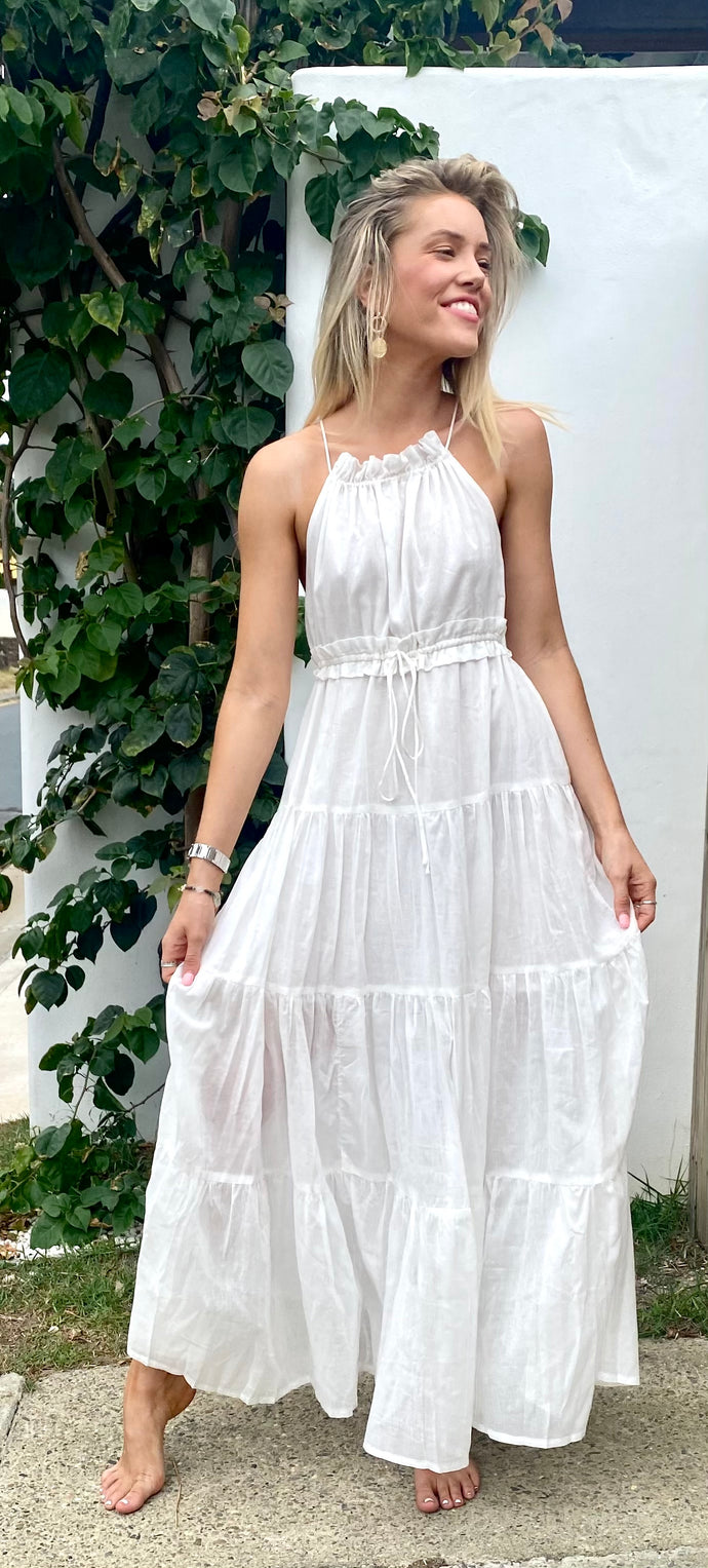 Tahiti Maxi Dress White