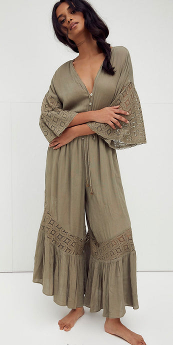 FREE PEOPLE ~ Angela Jumpsuit Willow