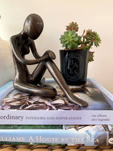 The Lady Resting Sculpture ~ Black