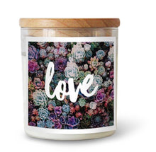 Love Soy Candle ~ Rainbow Succulents