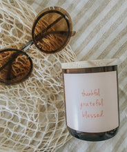 Quote Candle ~ Grateful