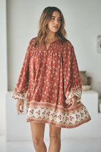 JAASE Alice Mini Dress Lily Of The Valley ~ Rust