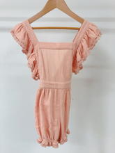 LEILA THE LABEL PENELOPE PEACH PLAYSUIT