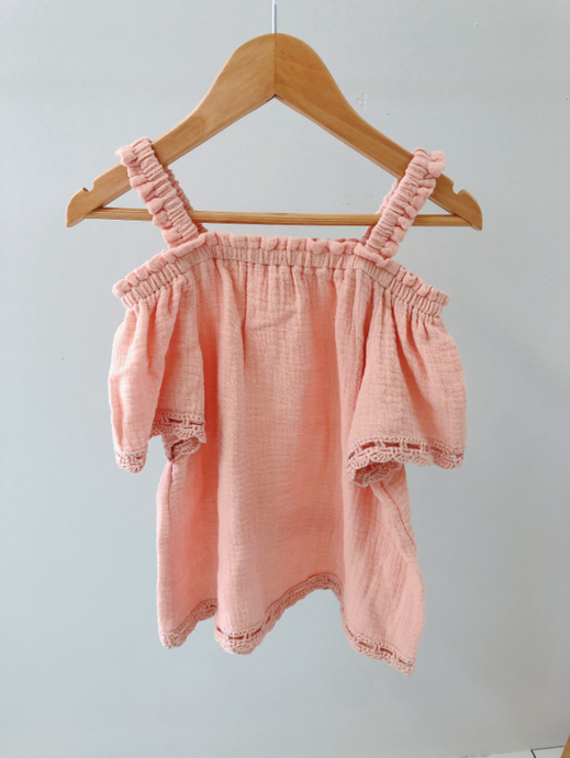 LEILA THE LABEL MARGOT TOP PEACH