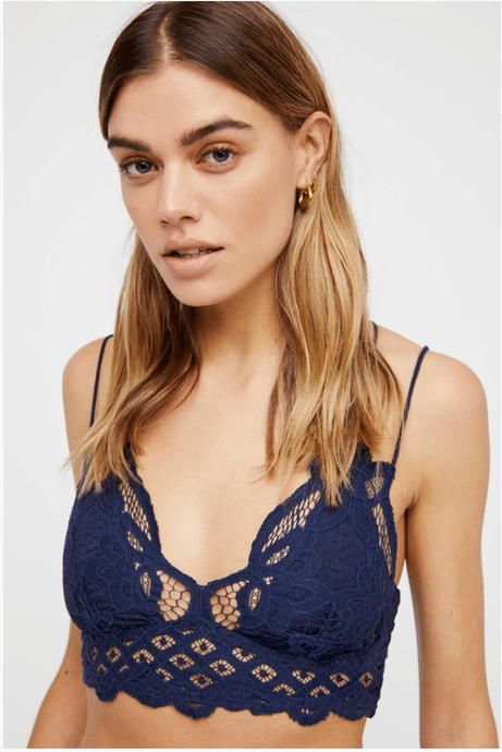 Free People Adella Bralette Navy