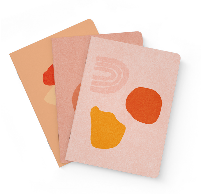 Collective Hub Daily Mantra Note Books Peach