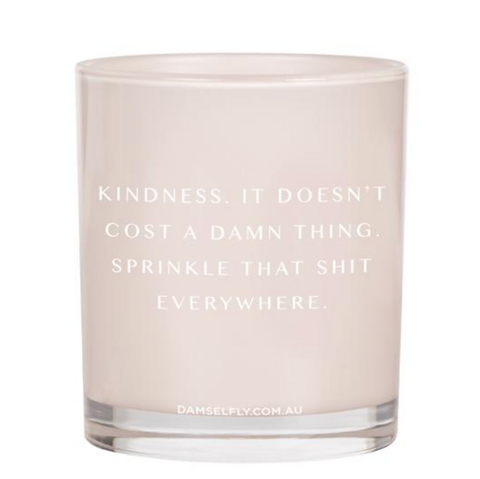 Damselfly Quote Candle ~ Kindness