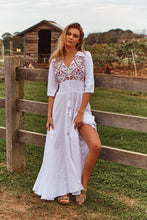 Indiana Maxi Dress Acantho White