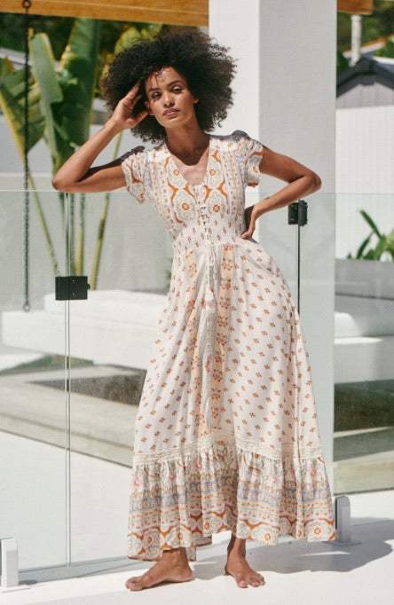 Romi Maxi Dress Peaches