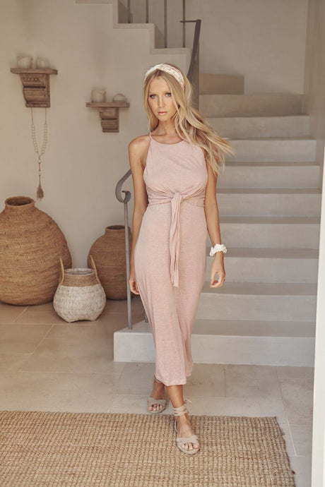 Acadia Patto Midi Dress Rose