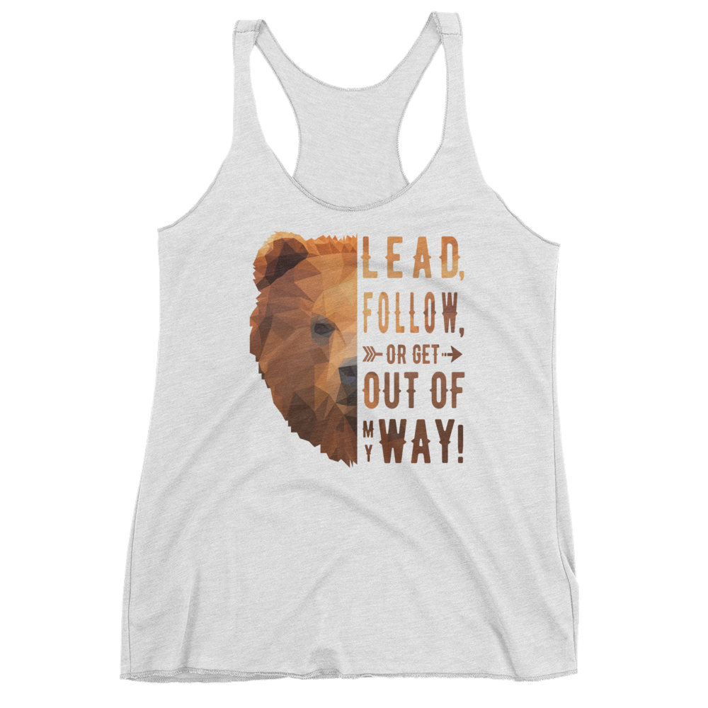 Women's Bear Tank - Lead Quote