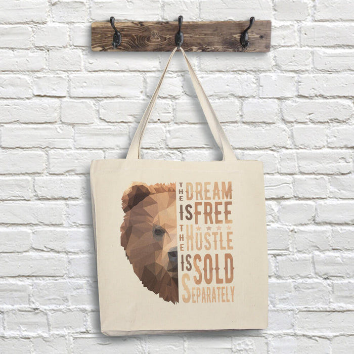 Bear Tote Bag - Dream Quote