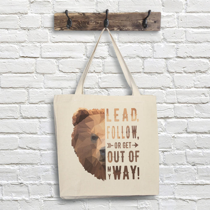 Bear Tote Bag - Lead Quote