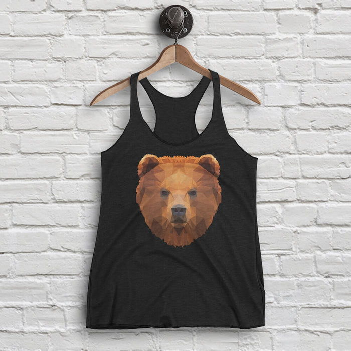 Women's Bear Tank - Animal Face