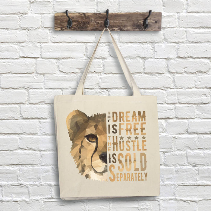 Cheetah Tote Bag - Dream Quote