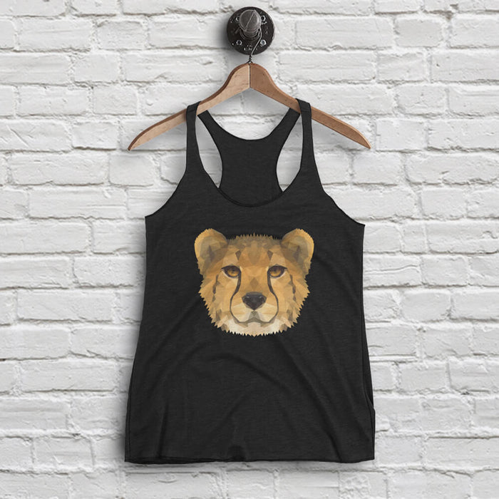 Women's Cheetah Tank - Animal Face