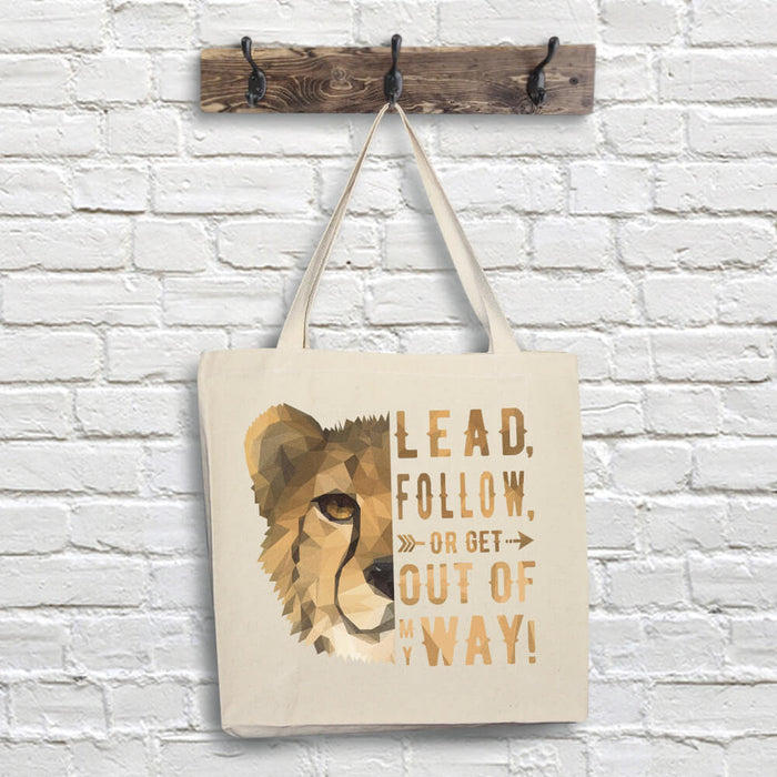 Cheetah Tote Bag - Lead Quote