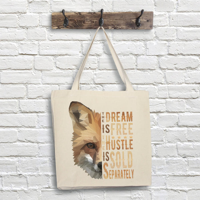 Fox Tote Bag - Dream Quote