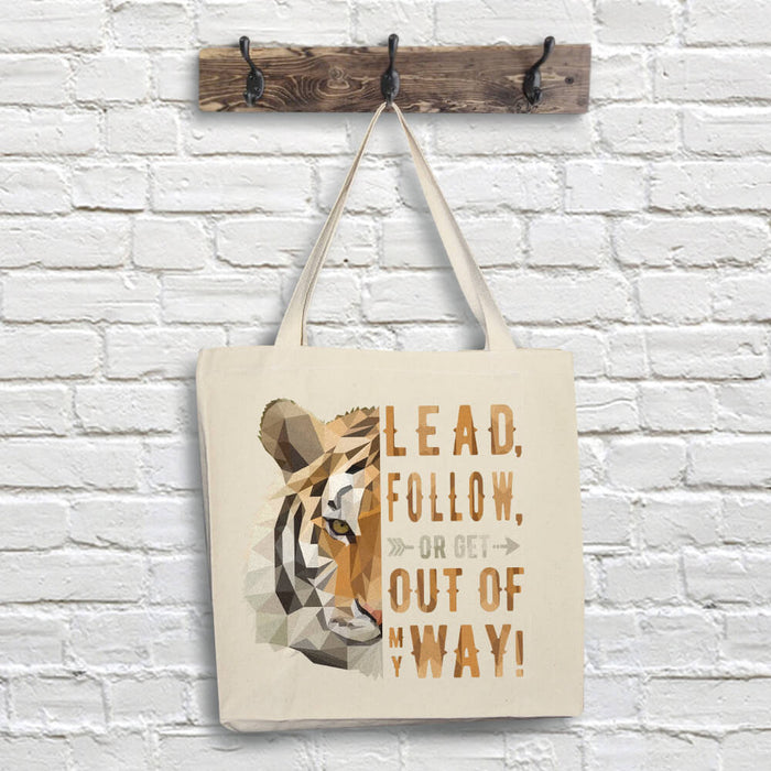 Tiger Tote Bag - Lead Quote