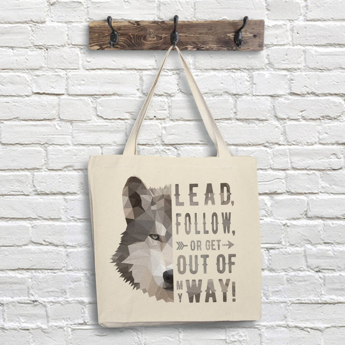 Wolf Tote Bag - Lead Quote