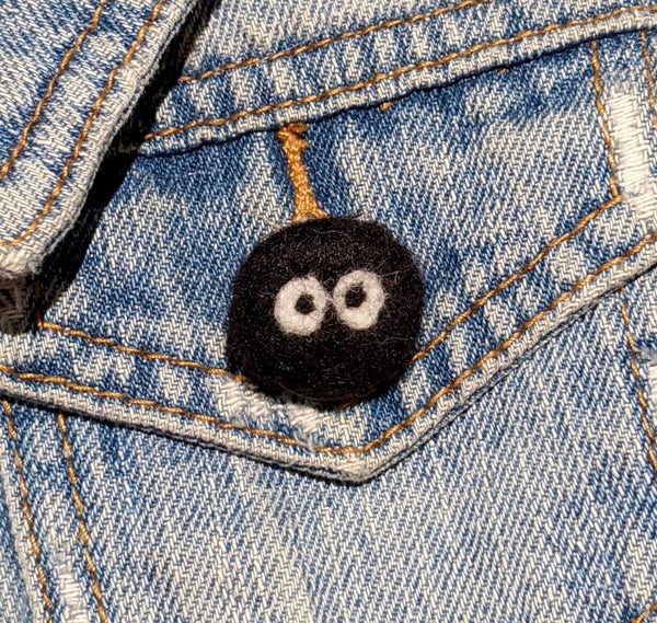 Soot Sprite Squish Pin