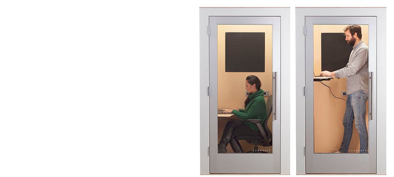 Office Phone Booth with Adjustable Desk