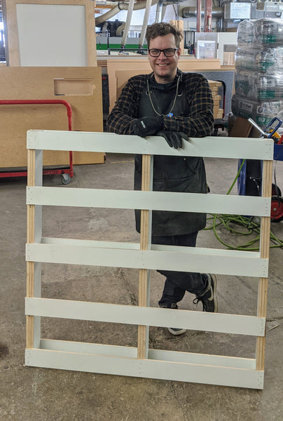 Zenbooth makes their own pallet when supply chain falls short