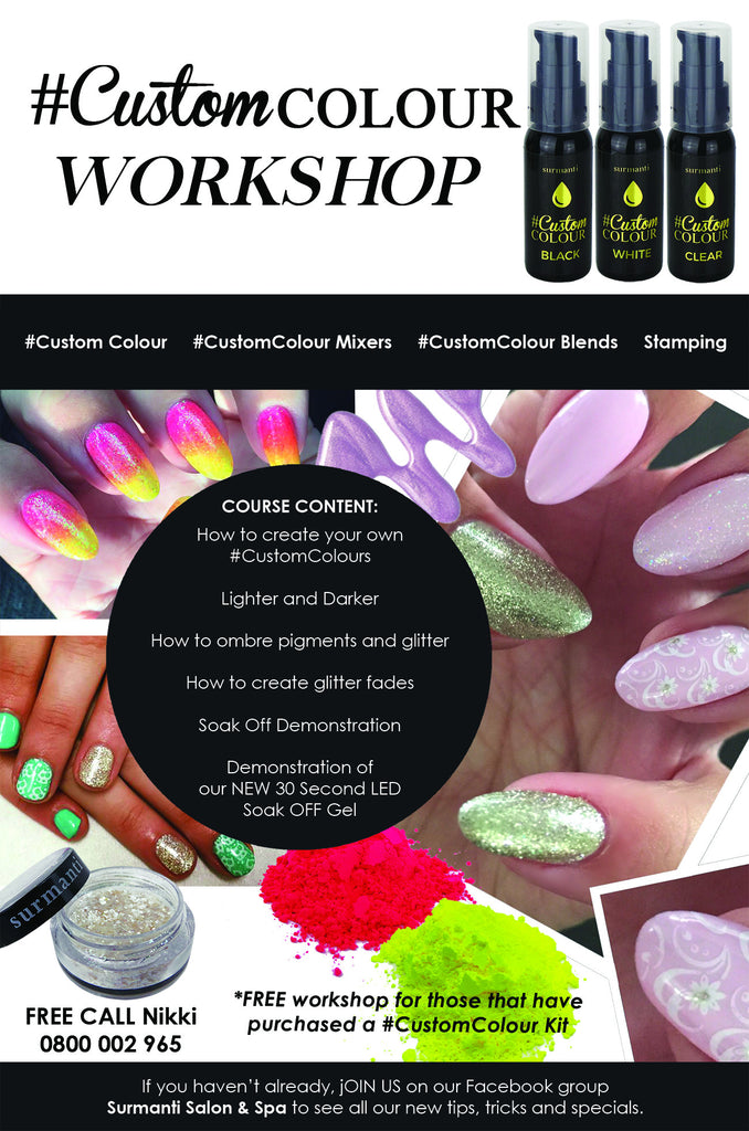 #CustomColour Gel Polish and Nail Art for Beginners -Christchurch May 2019