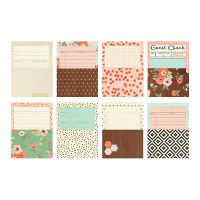 The Reset Girl Carpe Diem LIBRARY POCKETS with CARDS, 8 sets