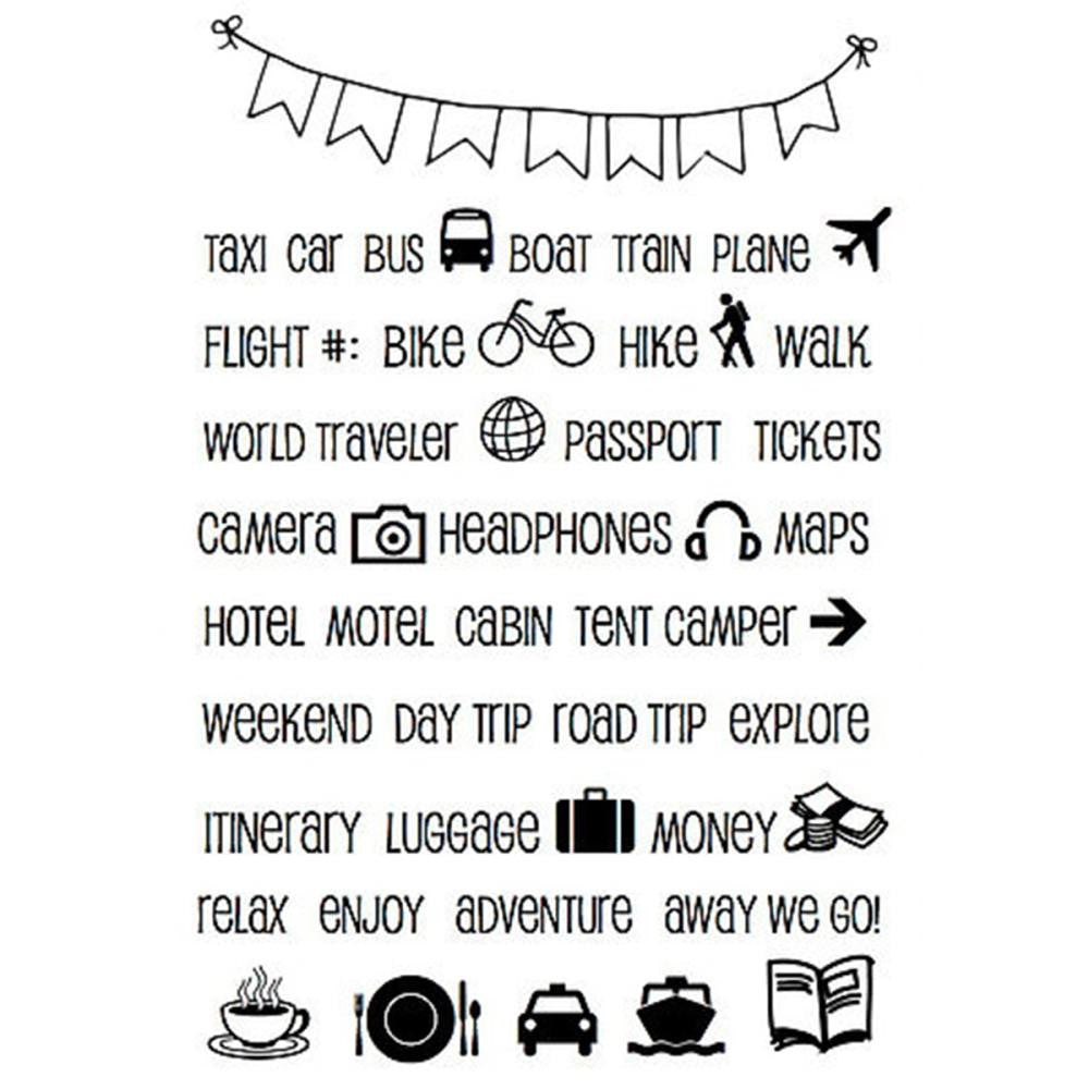 SRM Press Travel Vacation Planner Stamp Set