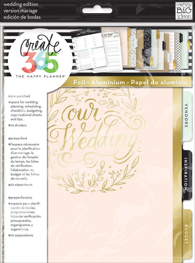 MAMBI Classic Happy Planner WEDDING Planner inserts & Foil Dividers
