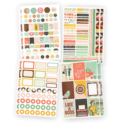 The RESET GIRL Basic Planner Stickers, 310 stickers
