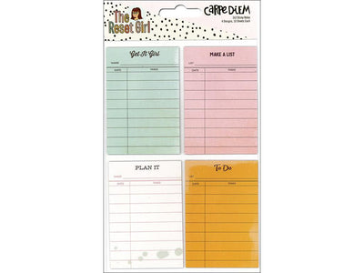 The RESET GIRL Checklist STICKY Notes 4 designs