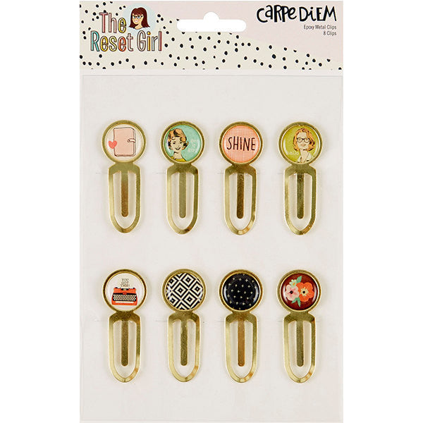 The Reset Girl Gold EPOXY PAPER CLIPS, 8 Clips