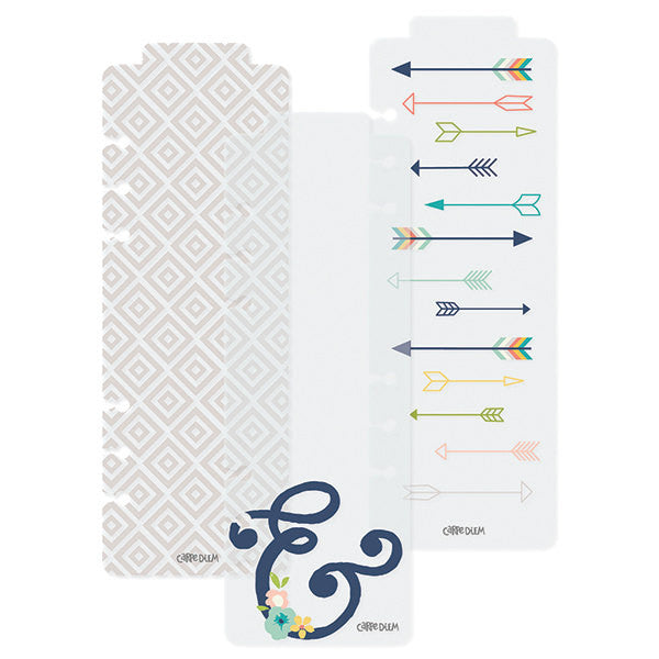 Carpe Diem Posh A5 Planner Bookmarks, 3 pc