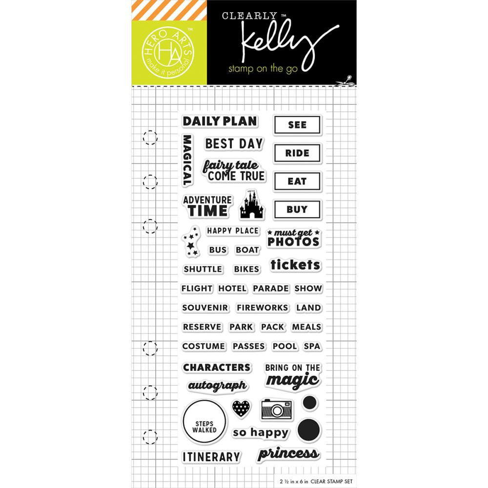 Theme Park Vacation Adventure Time Kelly Purkey Planner Stamps