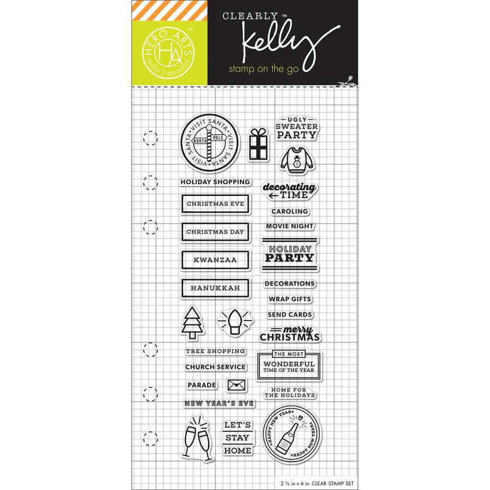 WINTER HOLIDAY Kelly Purkey Clear Planner Stamps