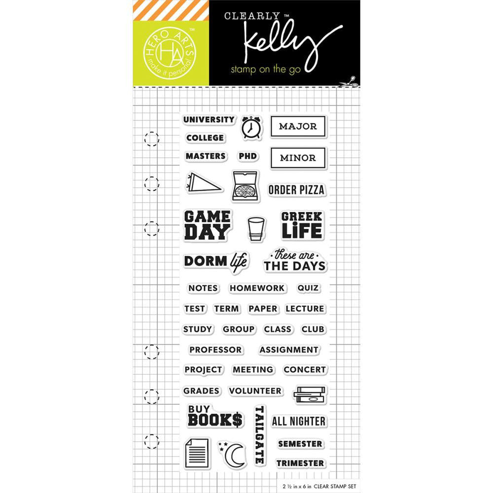 COLLEGE LIFE Kelly Purkey Clear Planner Stamps