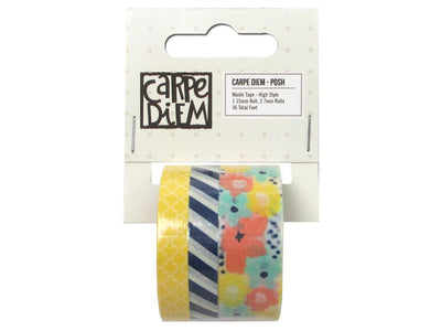 High Style Washi Tape by Posh, 3 Rolls, 36 Feet