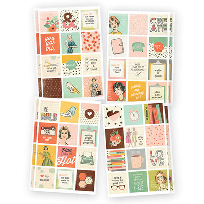 The Reset Girl Insta Quote Planner Stickers, 96 Stickers