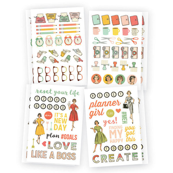 Reset Girl Carpe Diem Icon Planner Stickers, 218 Stickers