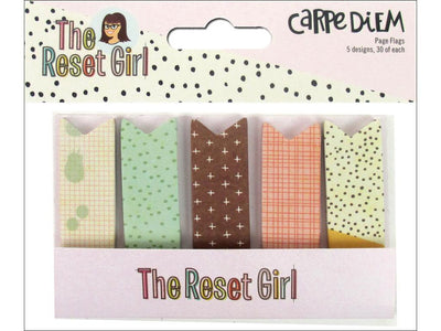Carpe Diem The Reset Girl Page Flags 5 designs