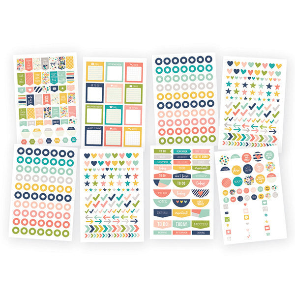 POSH Carpe Diem Basic Planner Stickers, 536 stickers
