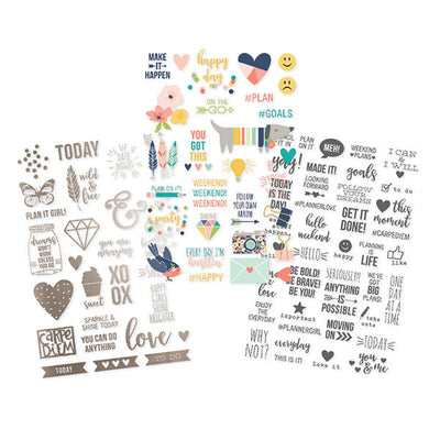 Posh Clear Planner Stickers, 96 Stickers