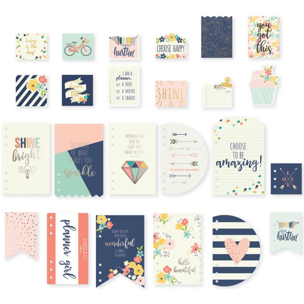 Carpe Diem POSH 12 DASHBOARDS & 12 PoCKET CARDS with foil accents