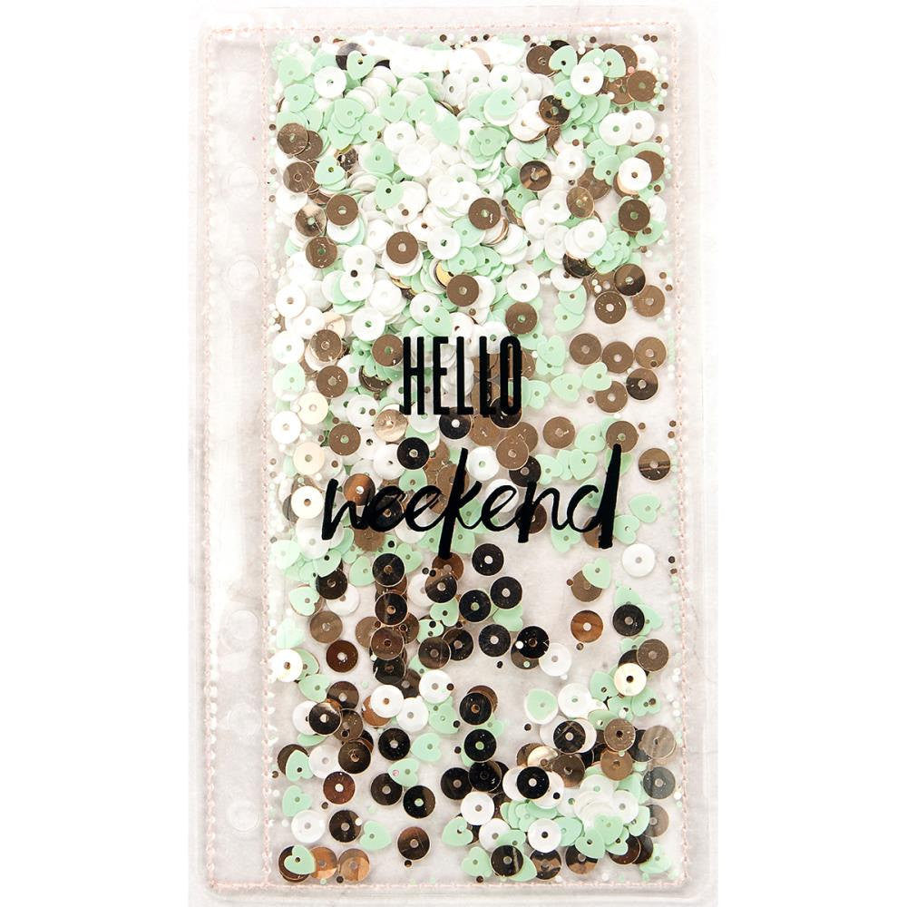 "Sequin PLANNER SHAKER Bookmark ""Hello weekend"" by Frank Garcia & Prima"