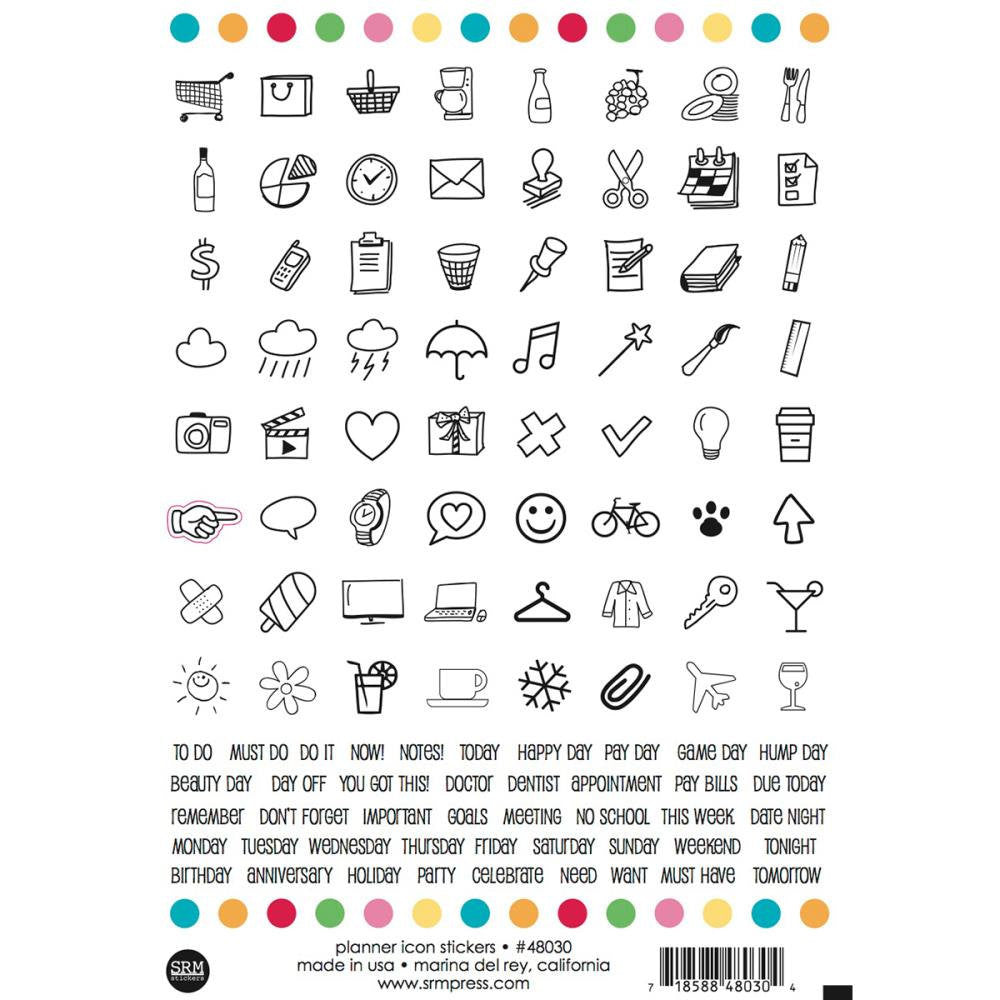 SRM Press ICONs & Word Label Stickers