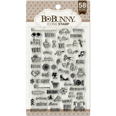 Bo Bunny ICONS Clear Planner Stamps